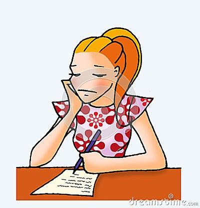 Free Letter Girl 04 Stock Images - 5533064
