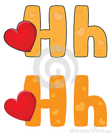 Letter H heart