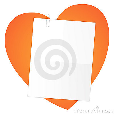 Letter on a heart