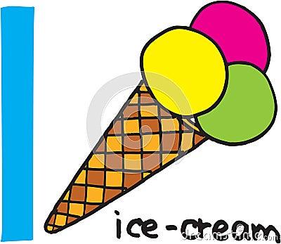 Letter I - icecream