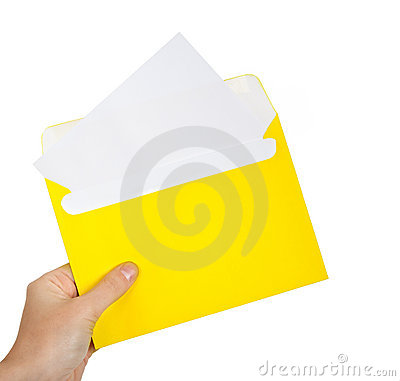 Free Letter In Hand Stock Photo - 22061580