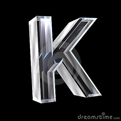 Letter K In Glass 3d Royalty Free Stock Images Image