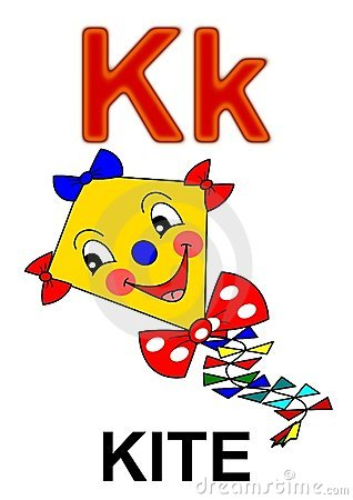 Letter K Kite Royalty Free Stock Image - Image: 17829186