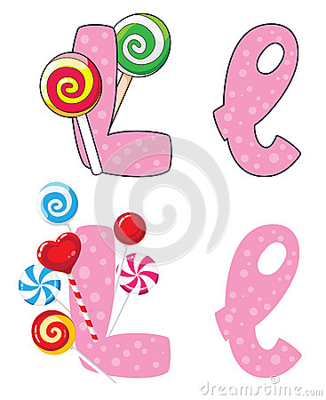 Letter L lollipops