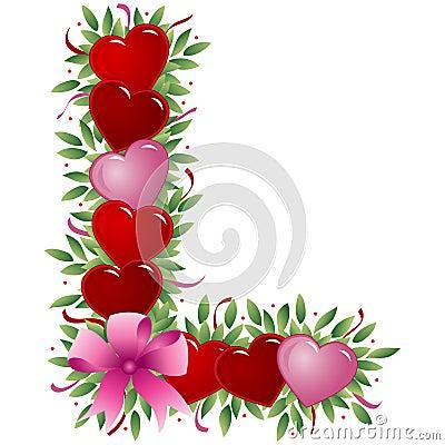Letter L - Valentine letter