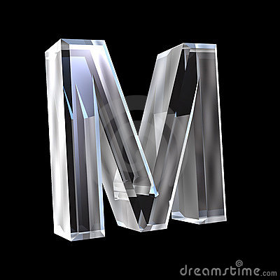 Letter M In Glass 3D Stock Photo - Image: 4486450