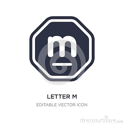 letter m icon on white background. Simple element illustration from Signaling concept Vector Illustration