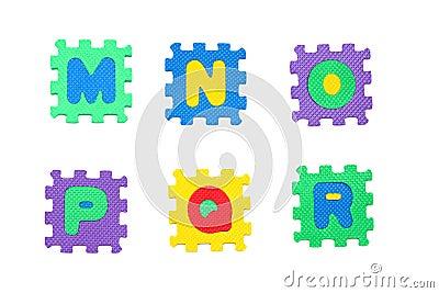 Letter m, n, o, p, q, r