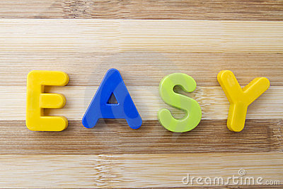 Letter magnets EASY