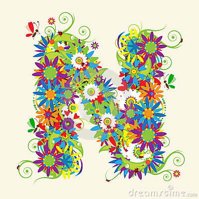 Letter A, Floral Design Royalty Free Stock Photography - Image ...