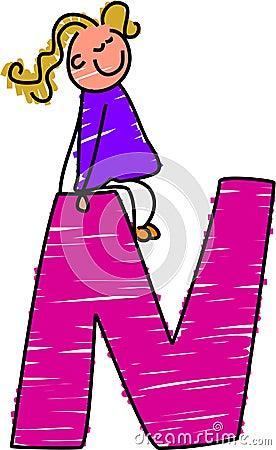 Letter N girl