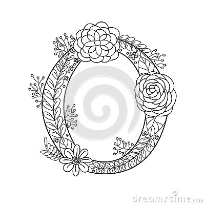 Letter O Coloring Book For Adults