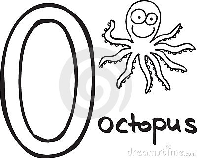 Letter O - octopus