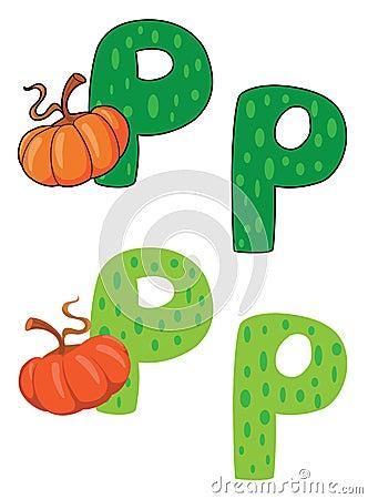 Letter P pumpkin