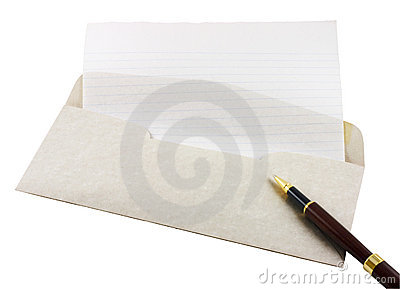 Letter Paper, Envelope and Pen