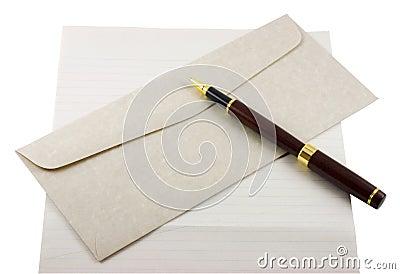 Letter Paper, Envelope and Pen