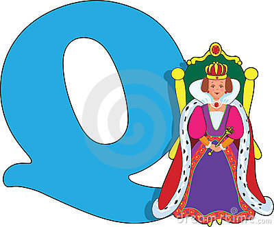 Letter Q with a Queen