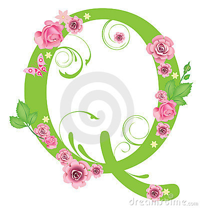 K Letter In Rose Letter S With Roses Stock Images - Image: 7967454