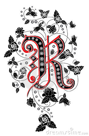 Alphabet R Tattoo