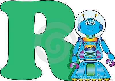 Letter R with a Robot