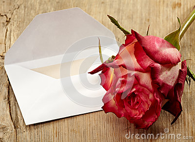 Letter and rose