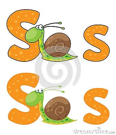 Letter S snail
