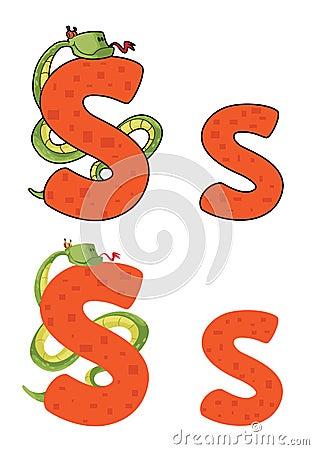 Letter S snake