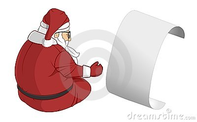 A Letter from Santa Claus Illustration