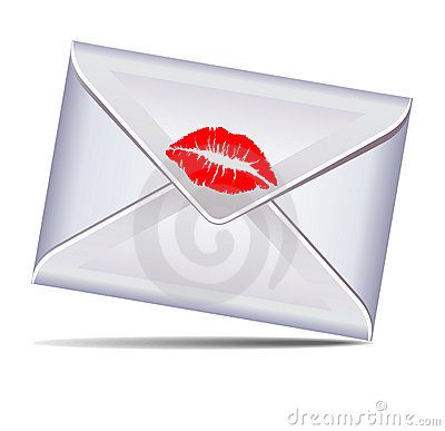 Letter sealed with a kiss