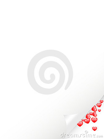Letter with spill hearts