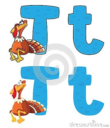 Letter T turkey