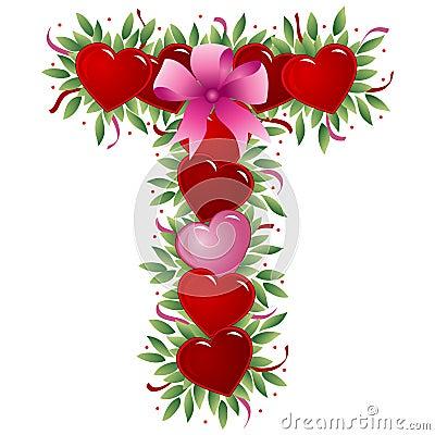 Letter T - Valentine letter
