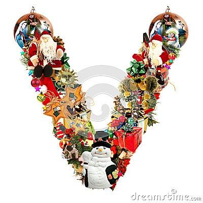 Letter V, for Christmas decoration