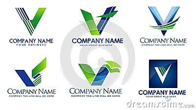 v company logo  representing a letter V