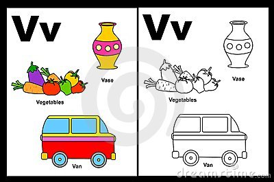 Letter V worksheet