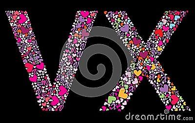 V Alphabet Images In Heart Pin Hearts Alphabet Set on Pinterest