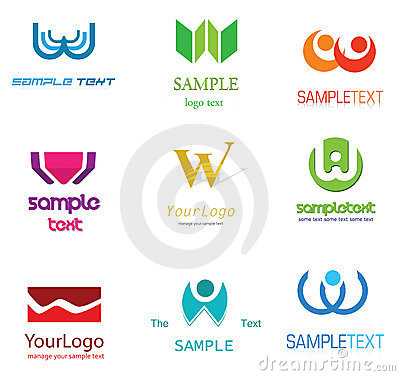 Alphabetical Logo Design Concepts. Letter W.
