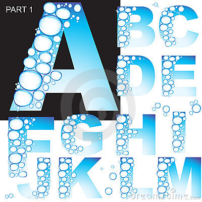 Letter of water alphabet. Part 1.