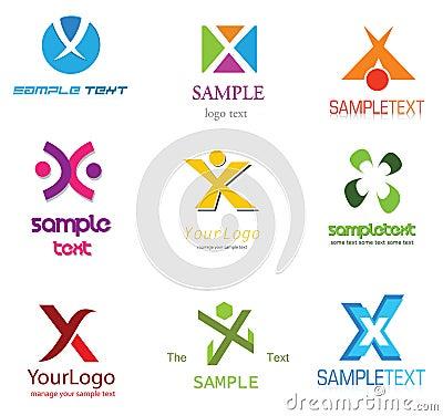 Alphabetical Logo Design Concepts  Letter X X Letter Logo