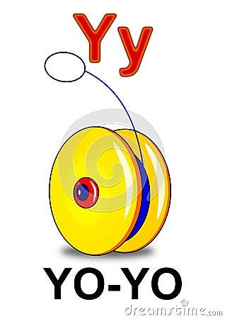 Letter Y yo-yo