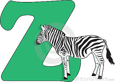 Letter Z with a Zebra
