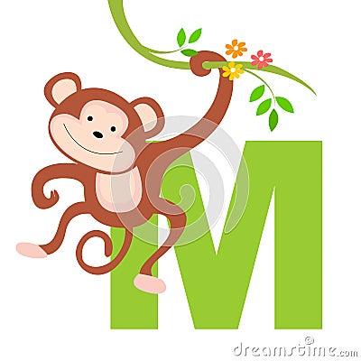 Lettera animale di alfabeto - m.