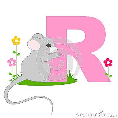 Lettera animale di alfabeto - R