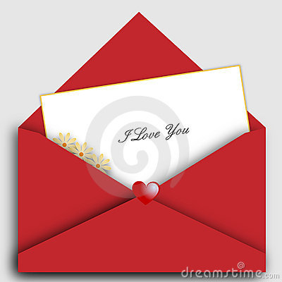Lettera del biglietto di S. Valentino della st