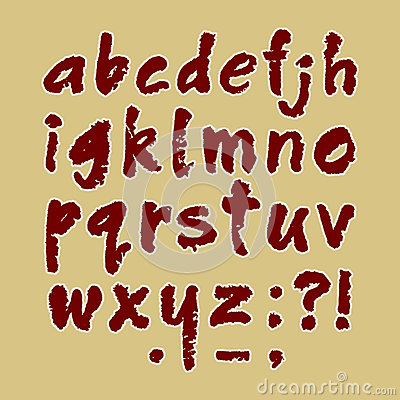 Lettera minuscola handmade di ABC