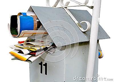 Letterbox jammed full