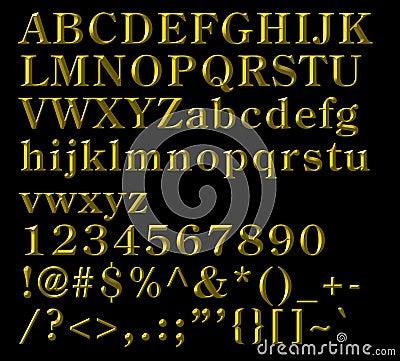 Lettere alfabetiche, numeri e simboli Bronze