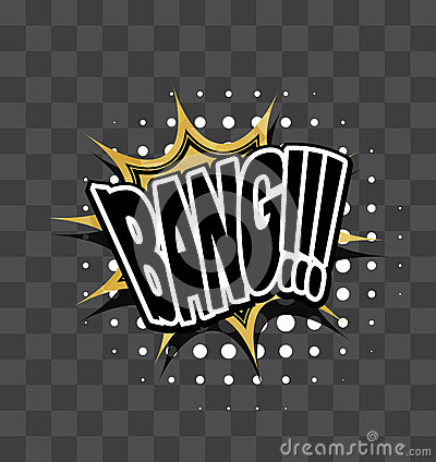 Free Lettering Bang Gold Sparkle Comic Text Stock Images - 83396934