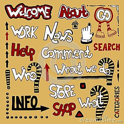 Lettering web design element