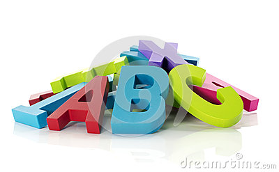 Letters from alphabet